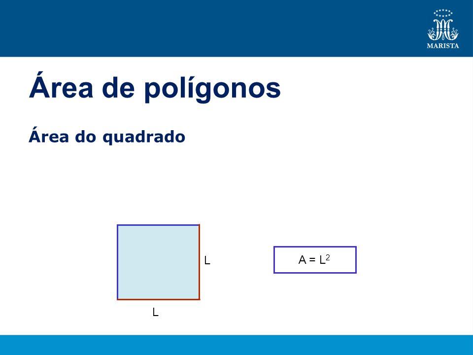 Exemplo Calcular a medida de cada lado e de cada uma das diagonais de um quadrado, cuja área mede 18 cm 2.