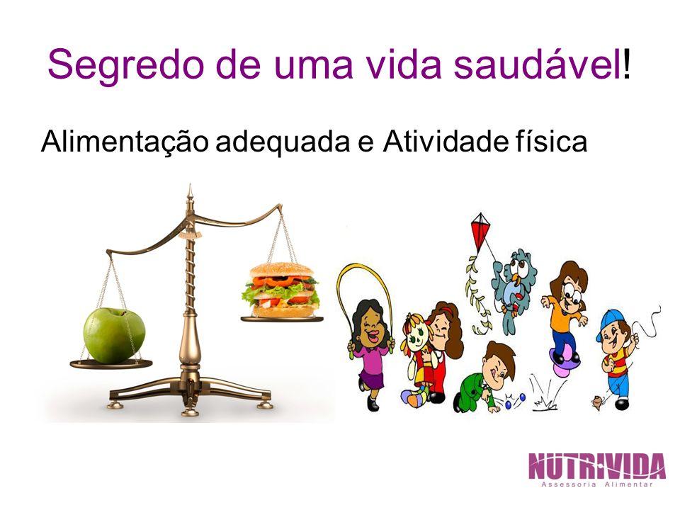Segredo de uma vida saudável! Alimentação adequada e Atividade física