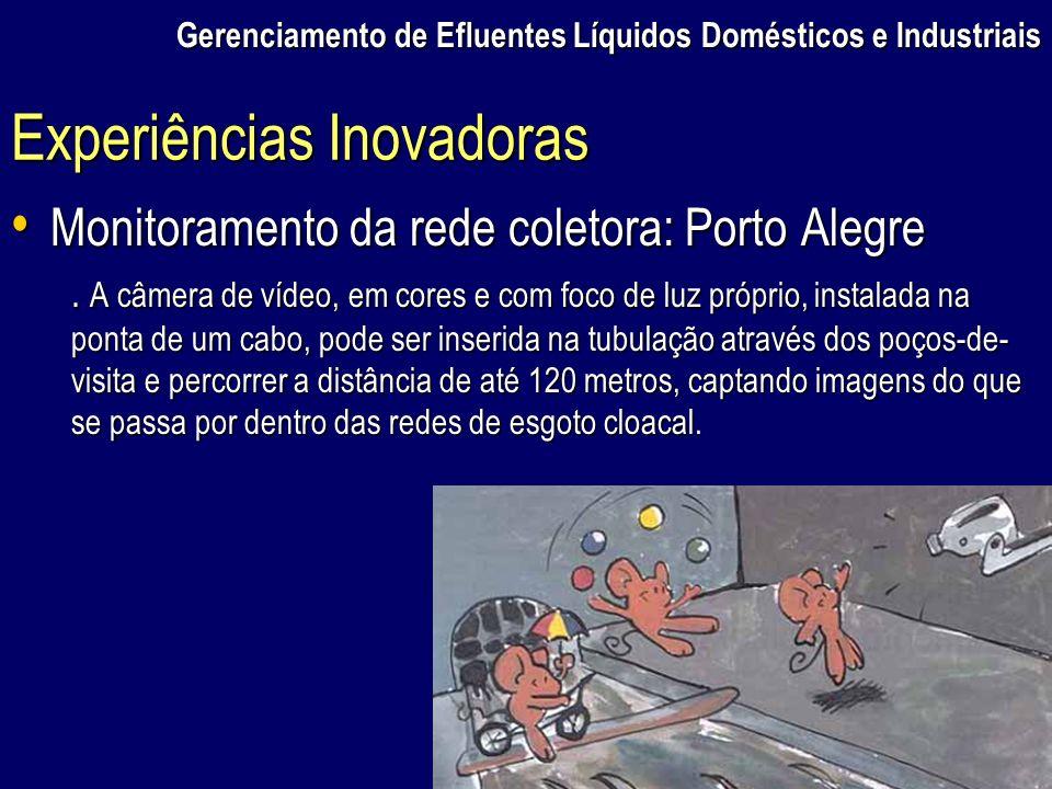 Gerenciamento de Efluentes Líquidos Domésticos e Industriais Monitoramento da rede coletora: Porto Alegre Monitoramento da rede coletora: Porto Alegre