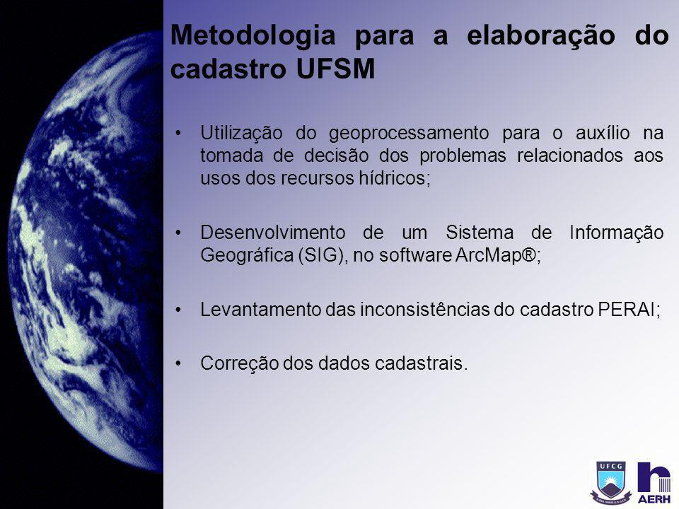 Metodologia para a elaboração do cadastro UFSM Utilização do geoprocessamento para o auxílio na tomada de decisão dos problemas relacionados aos usos