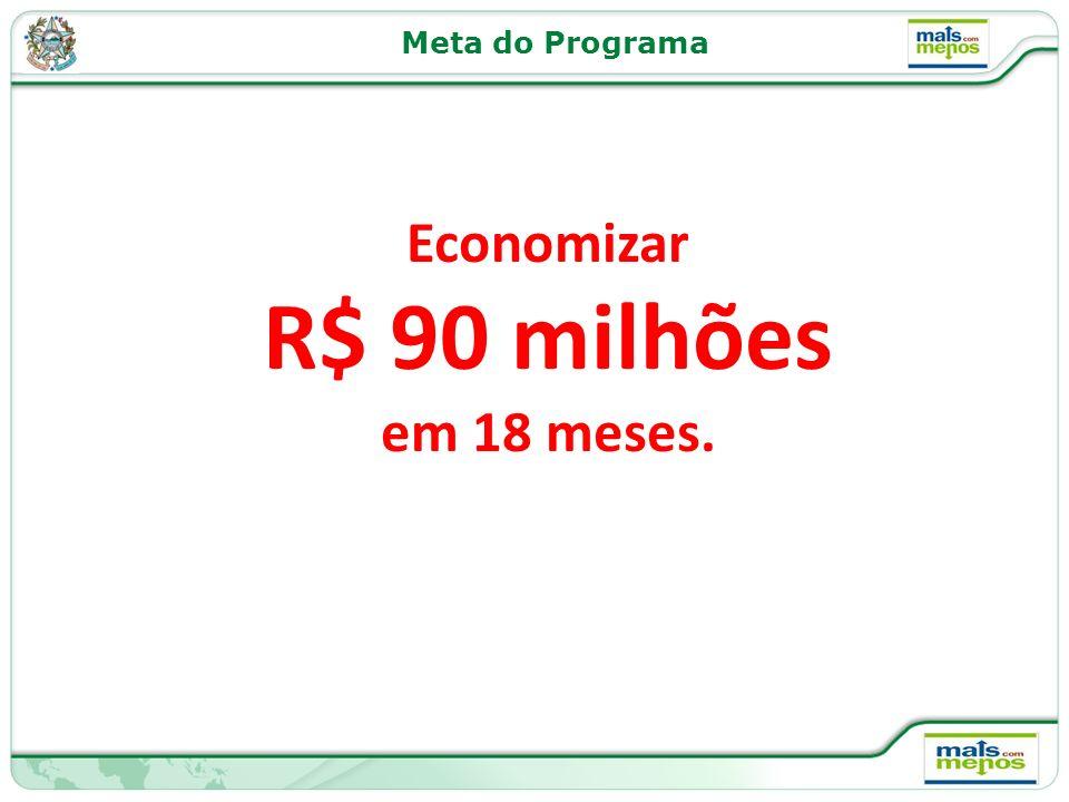 Economizar R$ 90 milhões em 18 meses. Meta do Programa