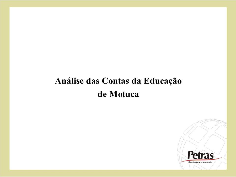 Análise das Contas da Educação de Motuca