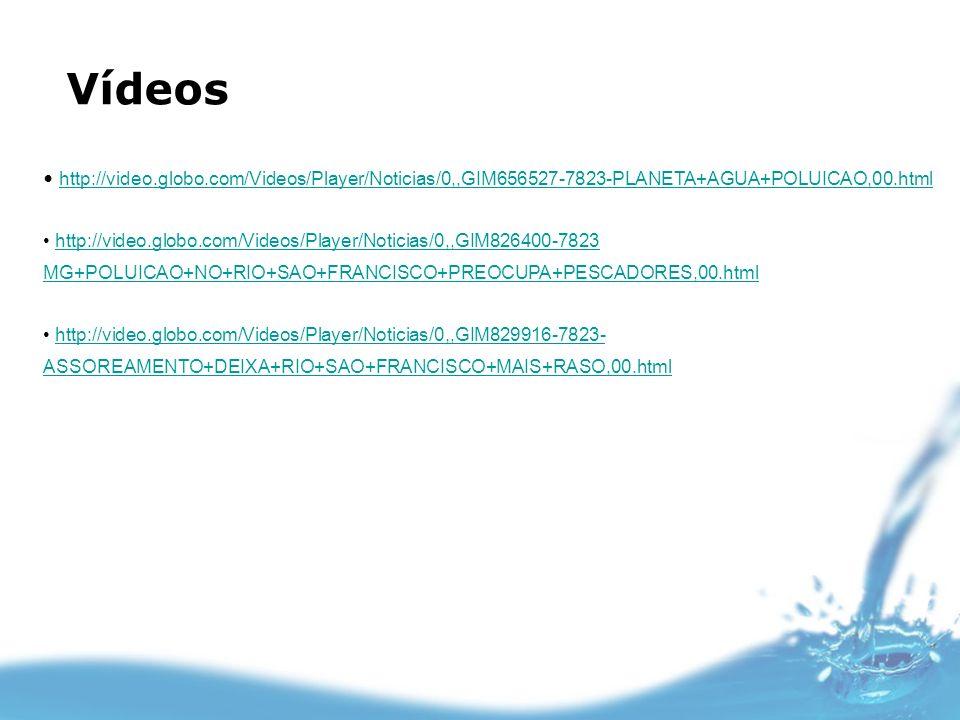 Vídeos http://video.globo.com/Videos/Player/Noticias/0,,GIM656527-7823-PLANETA+AGUA+POLUICAO,00.html http://video.globo.com/Videos/Player/Noticias/0,,