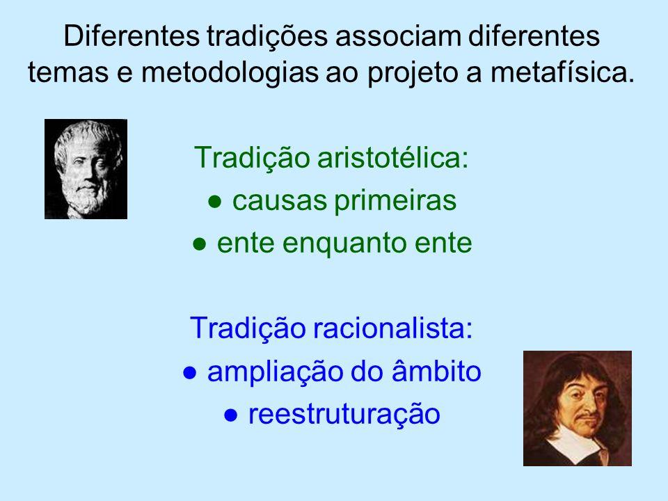 Reestruturação Racionalista Geral Metafísica Cosmologia Especial Psicologia Racional Teologia Natural