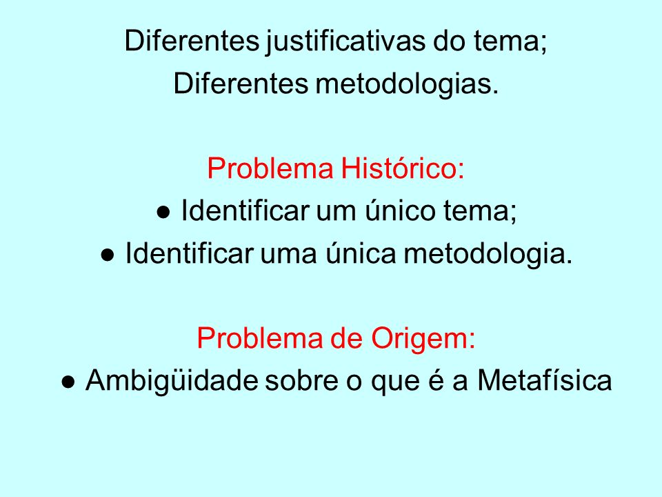 Aristóteles Metafísica I, 1 [1] Disciplina Departamental Identificar as causas primeiras Deus – Motor Imóvel
