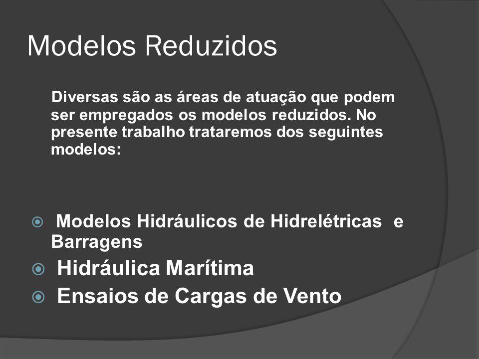 Modelos Reduzidos Diversas são as áreas de atuação que podem ser empregados os modelos reduzidos. No presente trabalho trataremos dos seguintes modelo