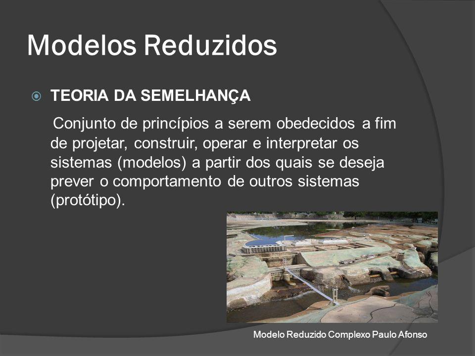 Modelos Reduzidos TEORIA DA SEMELHANÇA Conjunto de princípios a serem obedecidos a fim de projetar, construir, operar e interpretar os sistemas (model