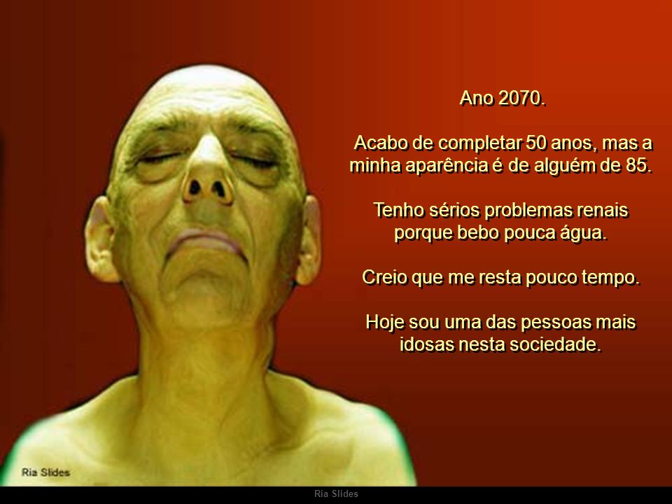 Ria Slides CARTA ESCRITA NO ANO 2070 Carta escrita no ano de 2070