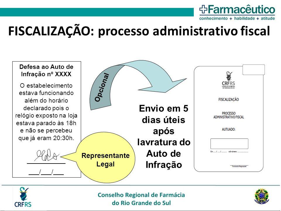 FISCALIZAÇÃO: processo administrativo fiscal Defesa ao Auto de Infração nº XXXX O estabelecimento estava funcionando além do horário declarado pois o