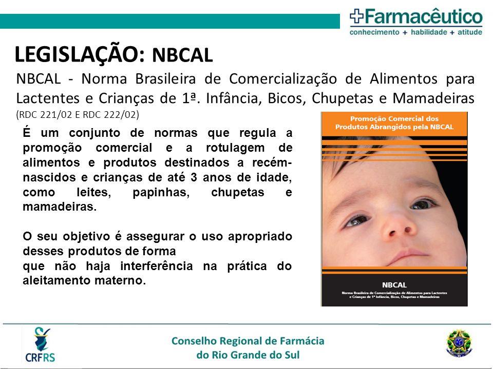 É um conjunto de normas que regula a promoção comercial e a rotulagem de alimentos e produtos destinados a recém- nascidos e crianças de até 3 anos de idade, como leites, papinhas, chupetas e mamadeiras.