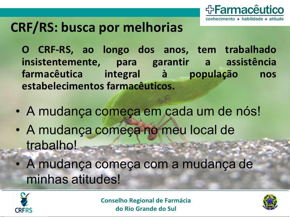 O CRF-RS, ao longo dos anos, tem trabalhado insistentemente, para garantir a assistência farmacêutica integral à população nos estabelecimentos farmac