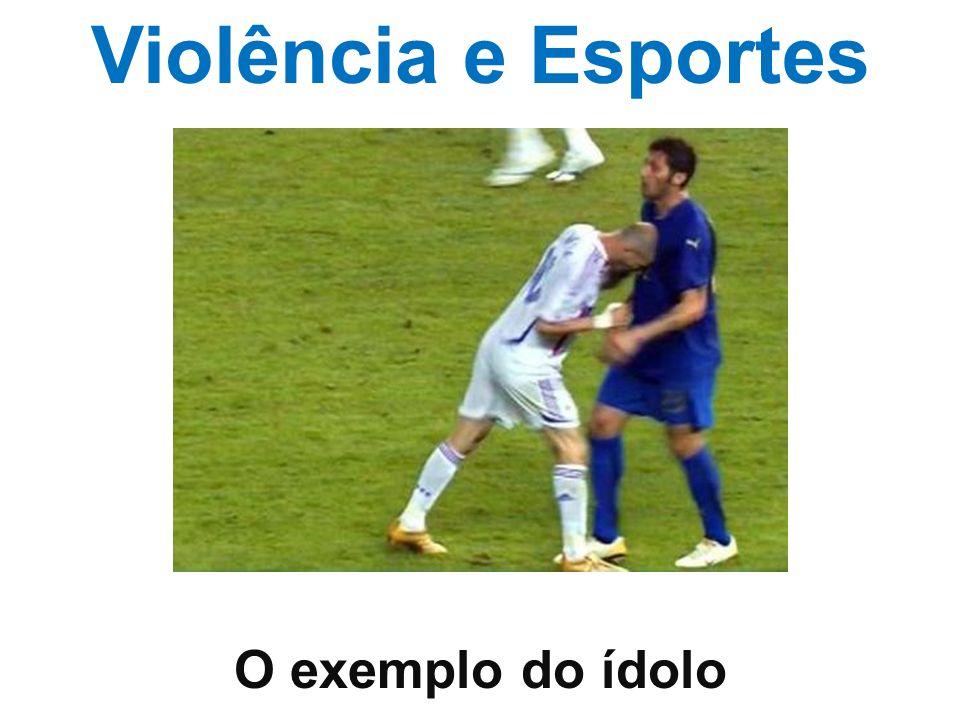 Violência e Esportes O exemplo do ídolo
