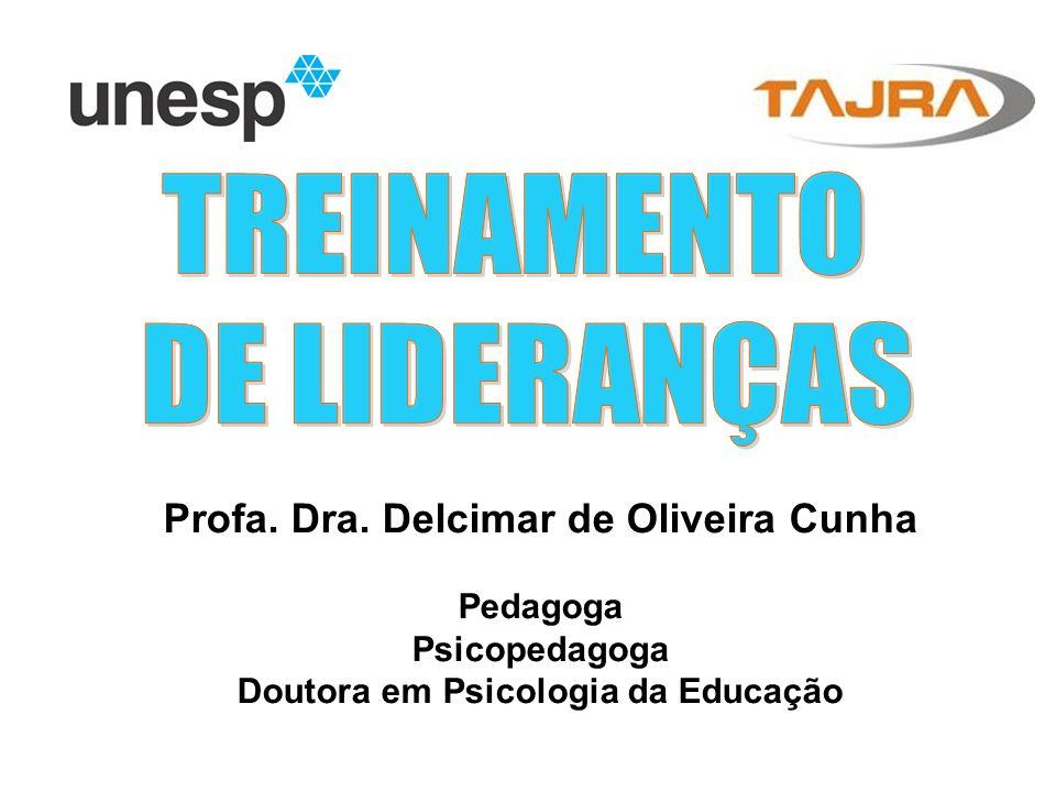 Profa. Dra. Delcimar de Oliveira Cunha Pedagoga Psicopedagoga Doutora em Psicologia da Educação