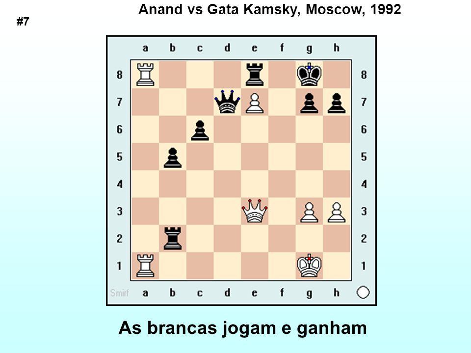 Anand vs Gata Kamsky, Moscow, 1992 As brancas jogam e ganham #7