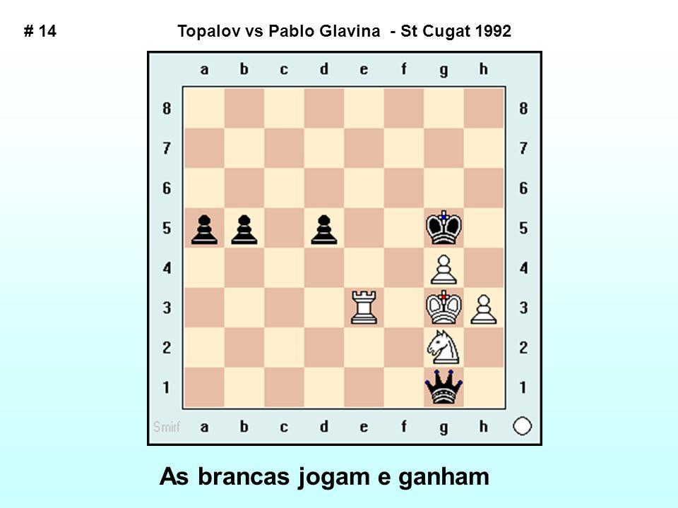 Topalov vs Pablo Glavina - St Cugat 1992 As brancas jogam e ganham # 14