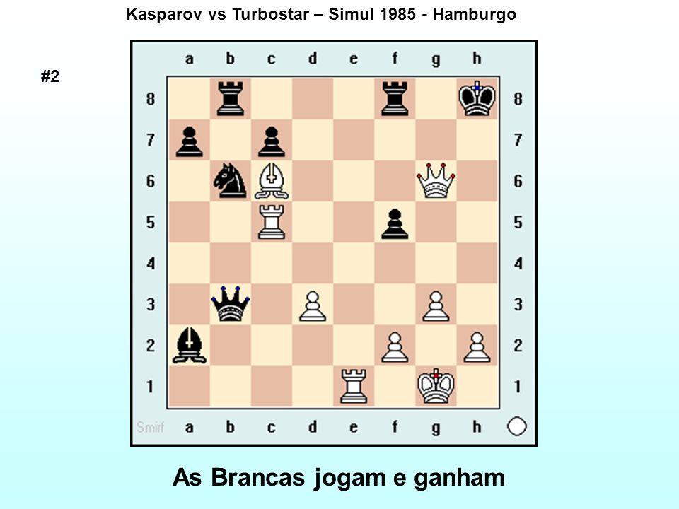 Kasparov vs Turbostar – Simul 1985 - Hamburgo As Brancas jogam e ganham #2