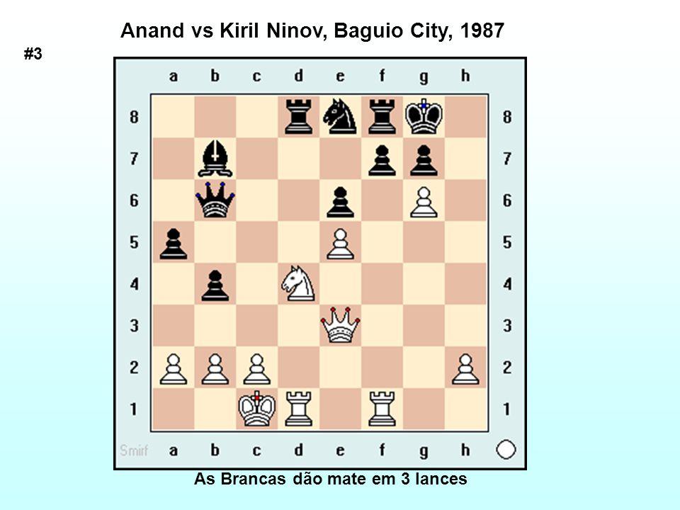As Brancas dão mate em 3 lances Anand vs Kiril Ninov, Baguio City, 1987 #3