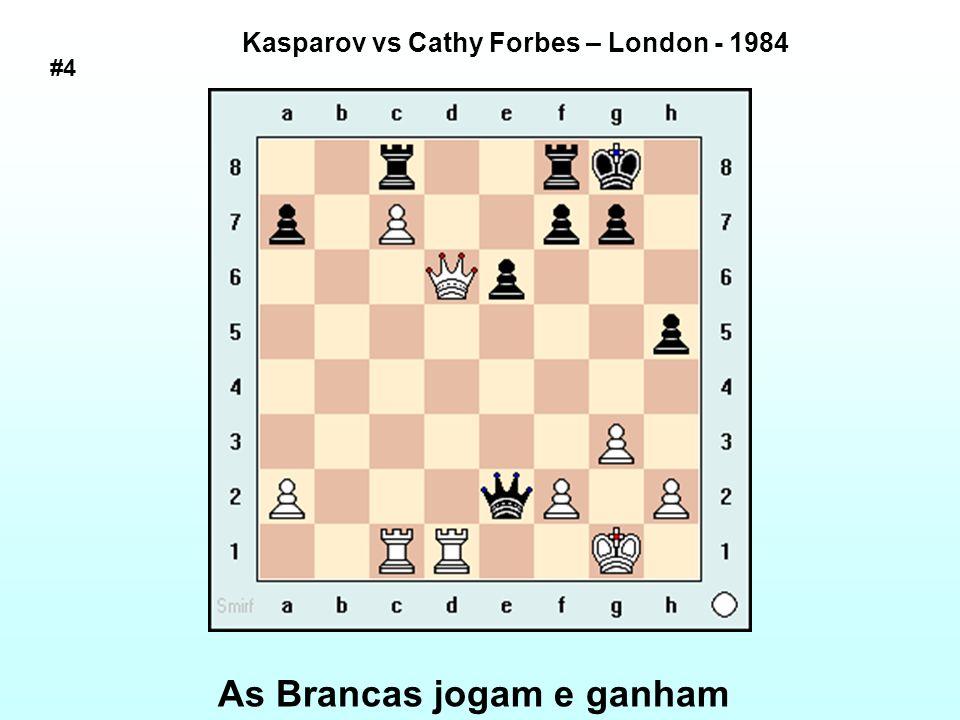 As Brancas jogam e ganham Kasparov vs Tim Krabbe – Amsterdam, Simul 1987 #5