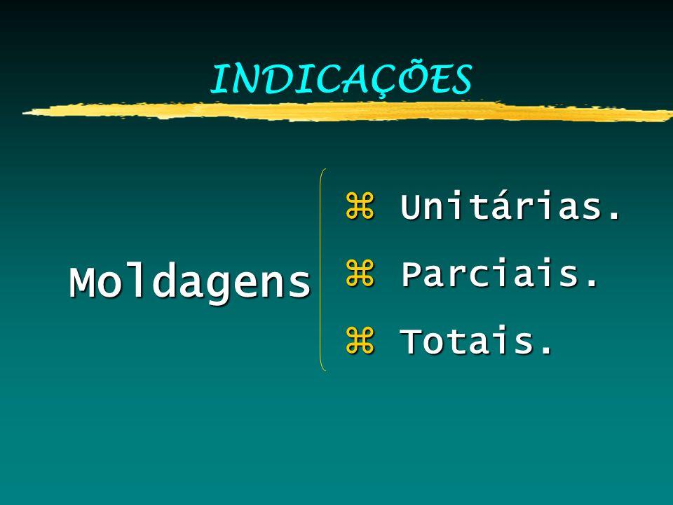 INDICAÇÕES Moldagens z Unitárias. z Parciais. z Totais.