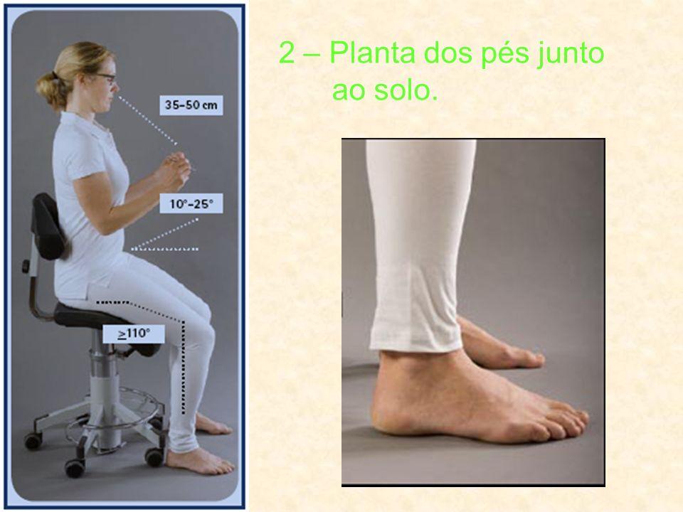 2 – Planta dos pés junto ao solo.