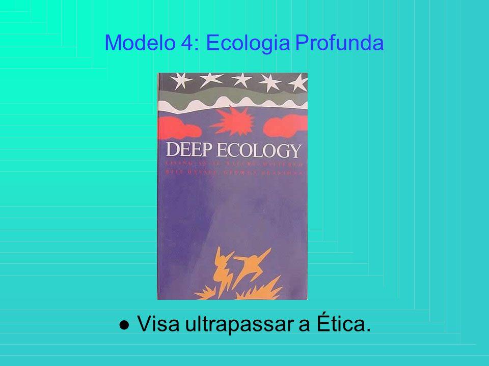 Modelo 4: Ecologia Profunda Visa ultrapassar a Ética.