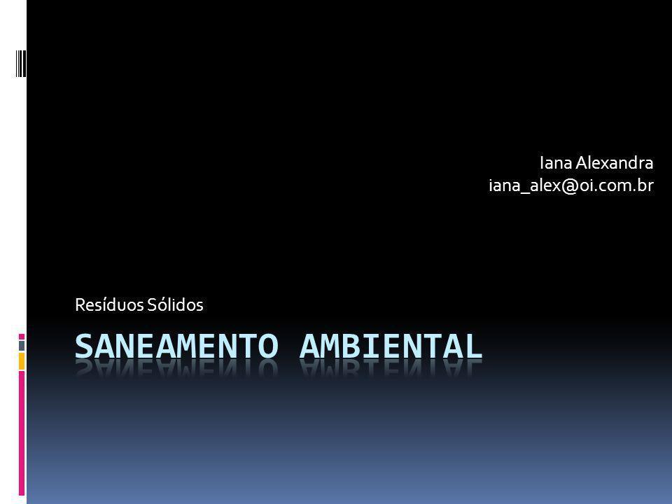 Resíduos Sólidos Iana Alexandra iana_alex@oi.com.br