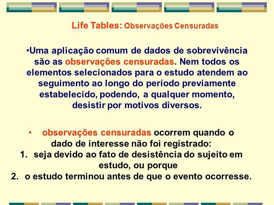 Modelos de sobrevivvência 3 patterns de mortalidade 1.