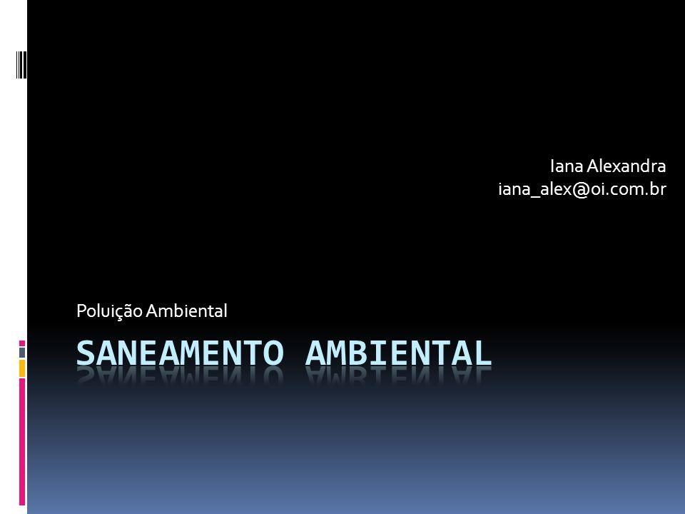 Poluição Ambiental Iana Alexandra iana_alex@oi.com.br