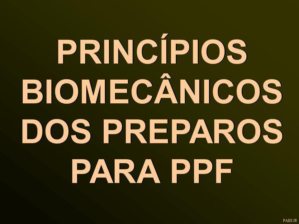PRINCÍPIOS BIOMECÂNICOS DOS PREPAROS PARA PPF PAES JR