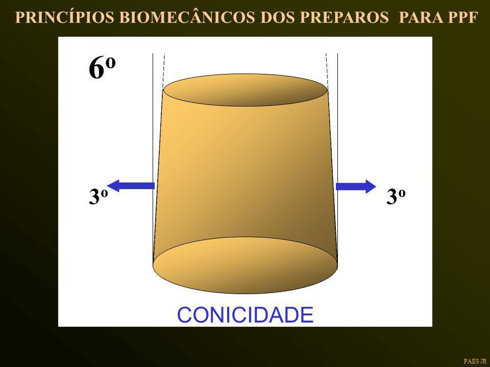 PAES JR PRINCÍPIOS BIOMECÂNICOS DOS PREPAROS PARA PPF 3o3o 3o3o 6o6o CONICIDADE