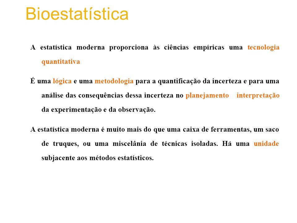 A estatística moderna proporciona às ciências empíricas uma tecnologia quantitativa.