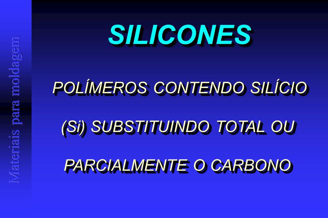SILICONESSILICONES POLÍMEROS CONTENDO SILÍCIO (Si) SUBSTITUINDO TOTAL OU PARCIALMENTE O CARBONO POLÍMEROS CONTENDO SILÍCIO (Si) SUBSTITUINDO TOTAL OU PARCIALMENTE O CARBONO