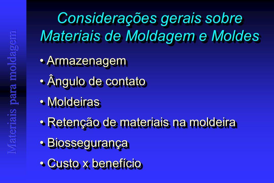 Ângulo de Contato X Umedecimento Quanto menor, maior a capacidade de umedecimento do líquido em um substrato sólido.