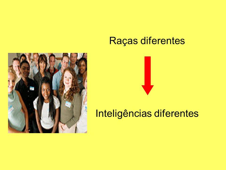 Raças diferentes Inteligências diferentes