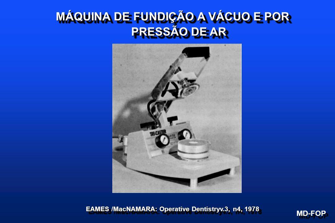 MÁQUINA DE FUNDIÇÃO A VÁCUO E POR PRESSÃO DE AR MD-FOP EAMES /MacNAMARA: Operative Dentistryv.3, n4, 1978