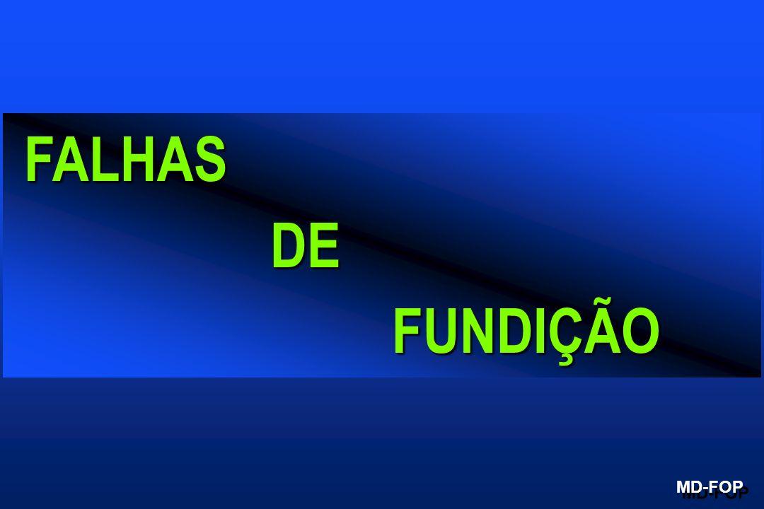 FALHAS FALHAS DE DE FUNDIÇÃO FUNDIÇÃO MD-FOP