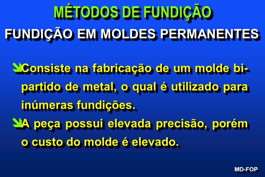 î Consiste na fabricação de um molde bi- partido de metal, o qual é utilizado para inúmeras fundições. î A peça possui elevada precisão, porém o custo