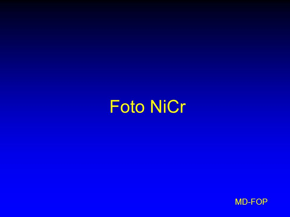 MD-FOP Foto NiCr