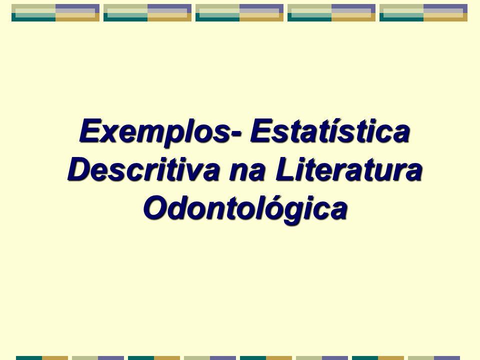 Exemplos- Estatística Descritiva na Literatura Odontológica