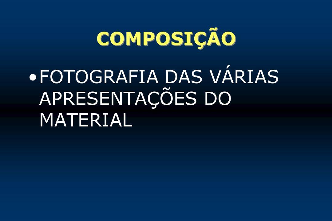 COMPOSIÇÃO FOTOGRAFIA DAS VÁRIAS APRESENTAÇÕES DO MATERIAL