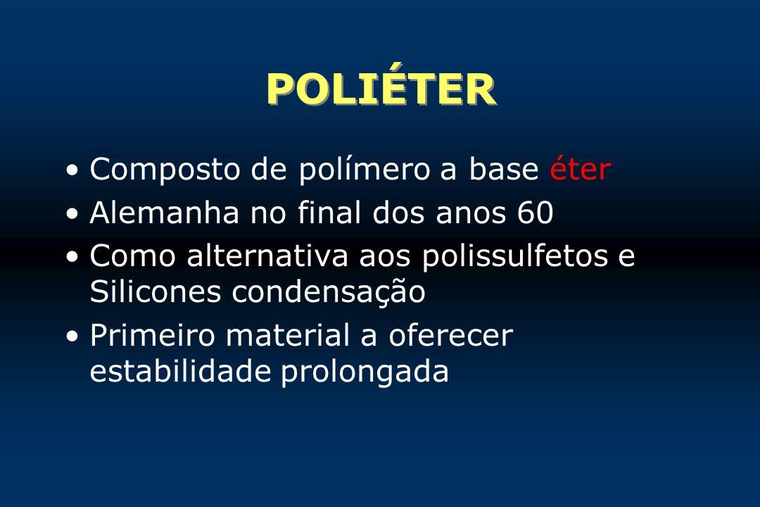 Composto de polímero a base éter Alemanha no final dos anos 60 Como alternativa aos polissulfetos e Silicones condensação Primeiro material a oferecer