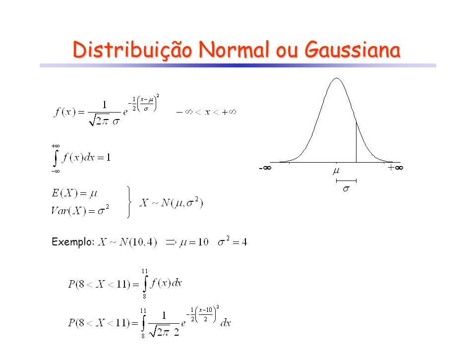 Distribuição Normal Padrão integrais podem ser tabeladas! Propriedade: seeentão