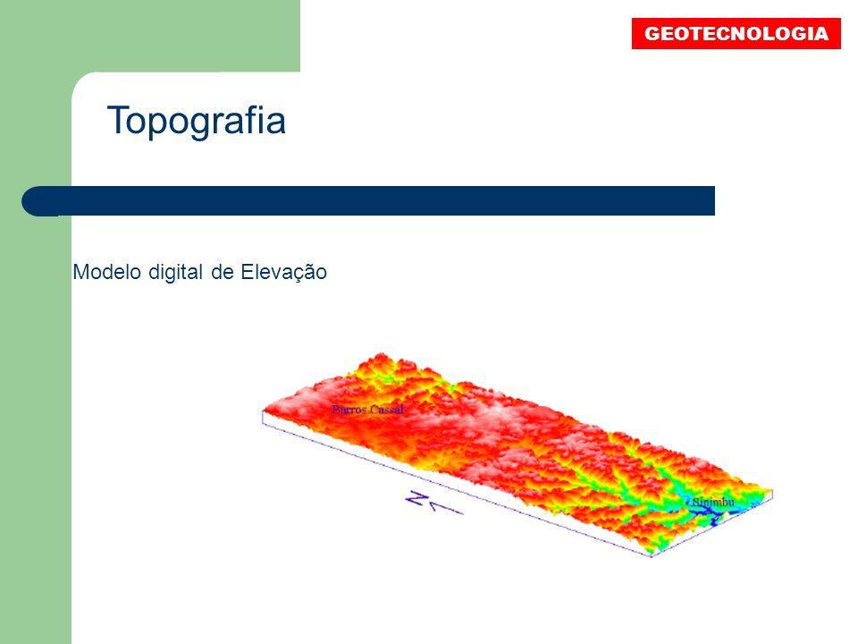 Topografia Modelo digital de Elevação GEOTECNOLOGIA
