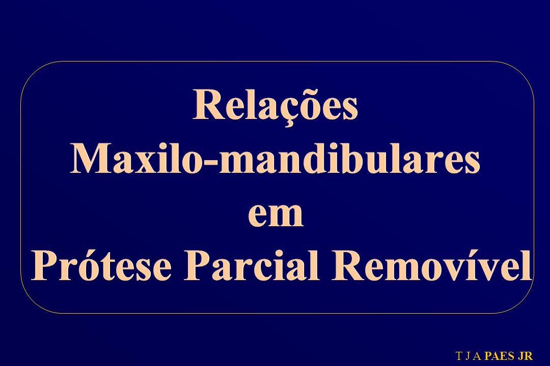 T J A PAES JR Relações Maxilo-mandibulares em Prótese Parcial Removível
