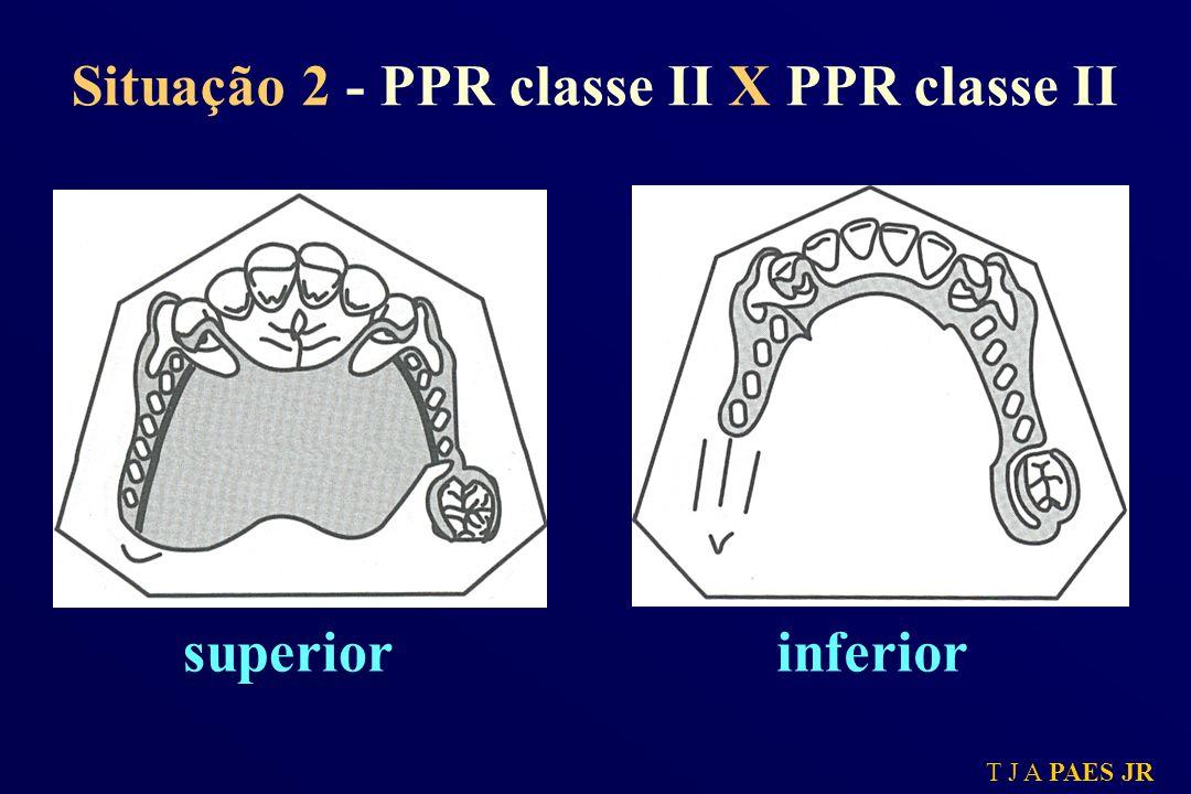 T J A PAES JR Situação 2 - PPR classe II X PPR classe II superiorinferior