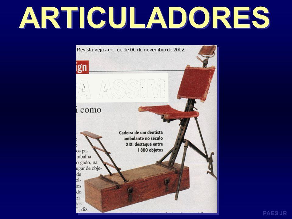 PAES JR ARTICULADORES - Articulador totalmente ajustável Seqüência de individualização do articulador