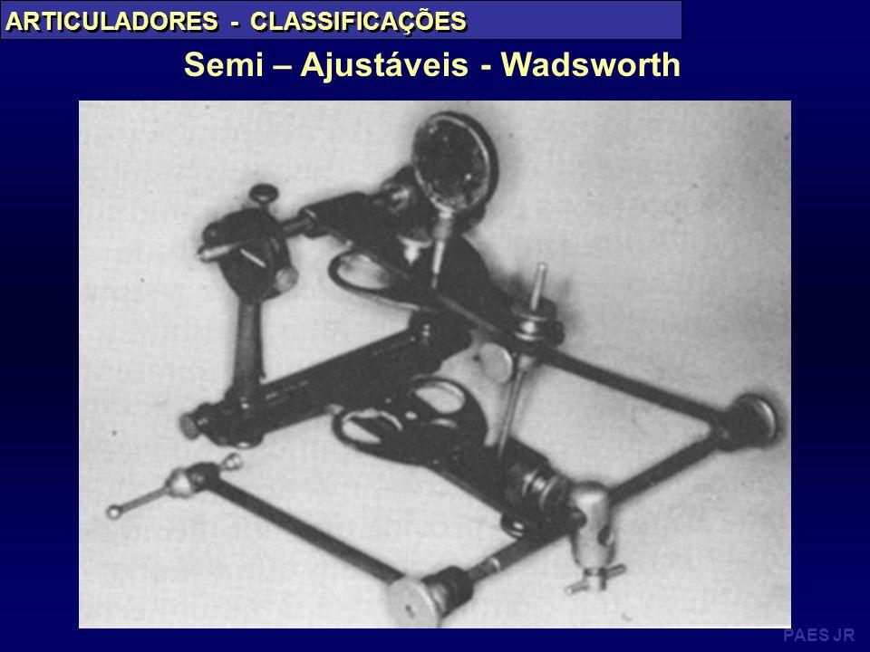 PAES JR ARTICULADORES - CLASSIFICAÇÕES Semi – Ajustáveis - Wadsworth