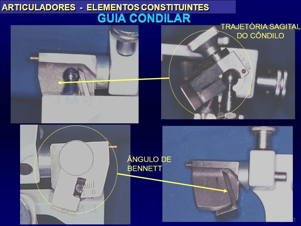 PAES JR ARTICULADORES - ELEMENTOS CONSTITUINTES GUIA CONDILAR ÂNGULO DE BENNETT TRAJETÓRIA SAGITAL DO CÔNDILO