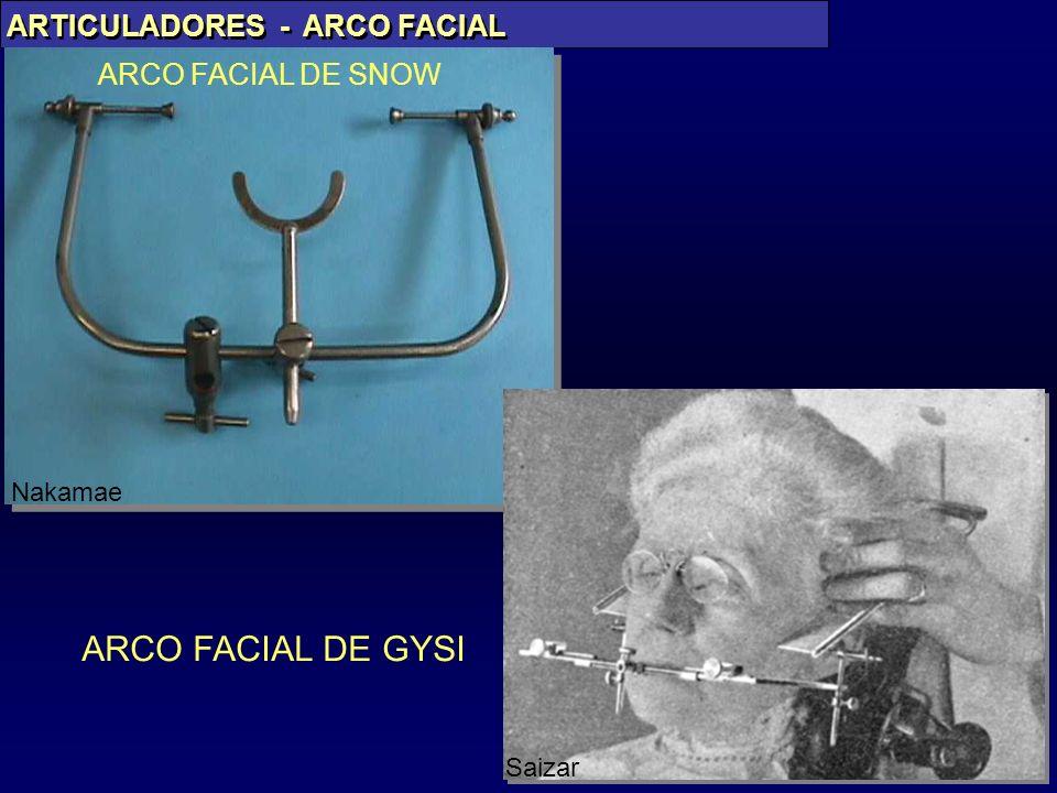 PAES JR ARTICULADORES - ARCO FACIAL Nakamae ARCO FACIAL DE SNOW ARCO FACIAL DE GYSI Saizar