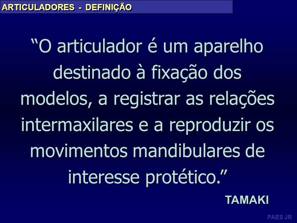 PAES JR ARTICULADORES - CLASSIFICAÇÕES Semi - Ajustáveis
